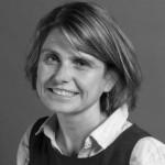 Black and white headshot of co-director, lead, Magdalena Kazubowski-Houston.