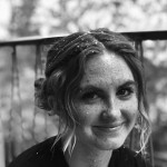 Black and white headshot of performer Sadie Wells Liddy.