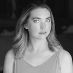 Black and white headshot of performer Leanne Hoffman.